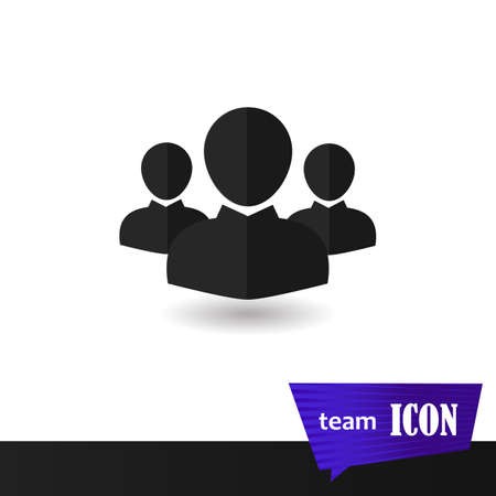 Characters symbol for your website interface design. Sign crowd vector illustration.