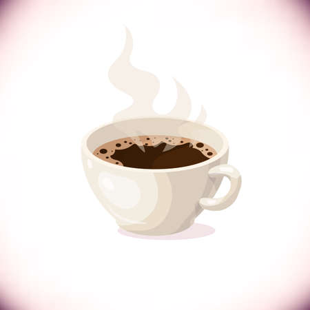 Cartoon cup of coffee.