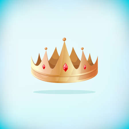 Gold crown icon. Awards for winners sign. Champion symbol. Leadership sign. Royal king. Illustration