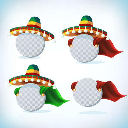 Mexican sombrero. Mexican hat. Masquerade or carnival headdress