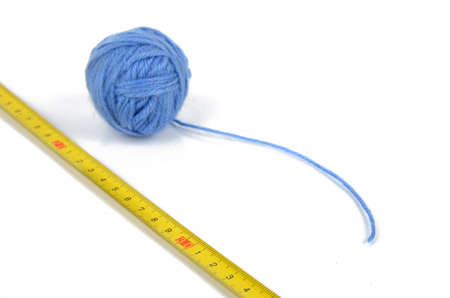thread count: Steel tape and wool ball