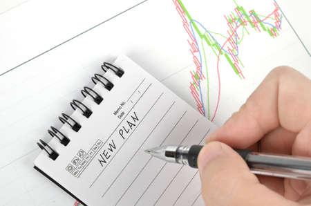 Stock graph Stock Photo - 11968160