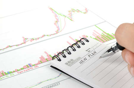 Stock graph Stock Photo - 11968091