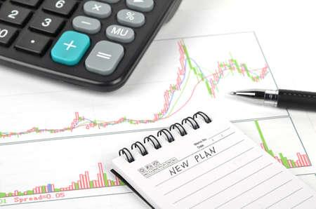 Stock graph photo