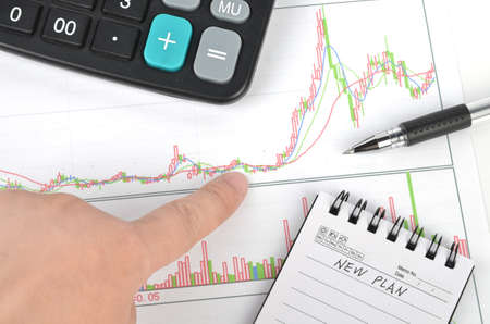 Stock graph Stock Photo - 11968167
