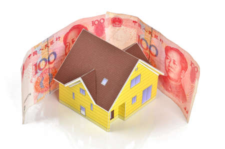 Model house and chinese currency photo