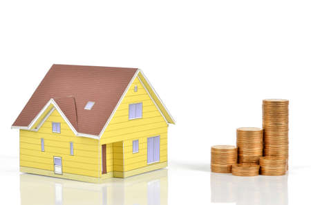 Model house and coins Stock Photo - 12067657