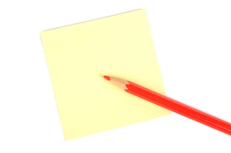postit note: Post-it note and pencil