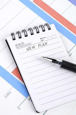 ballpen: New plan Stock Photo