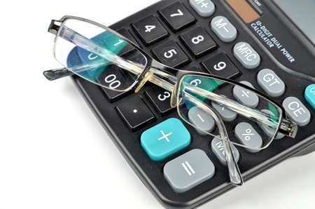 Calculator and glasses photo