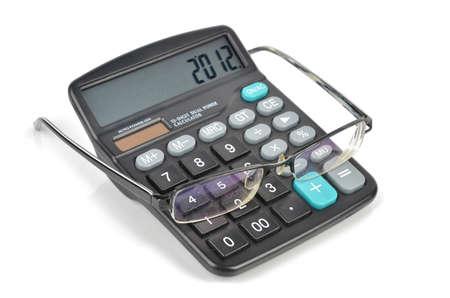 Calculator and glasses photo