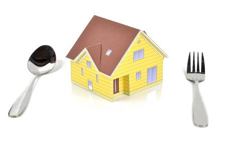 Model house and tableware Stock Photo - 12083370