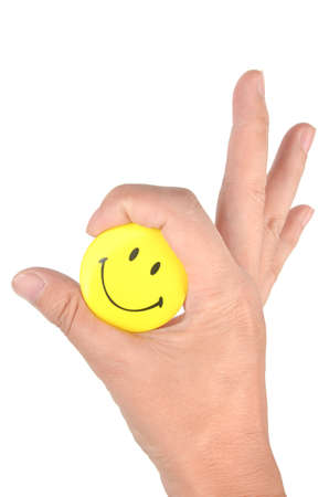Smile face and finger photo