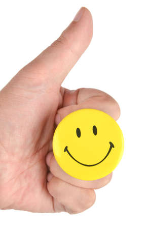 Smile face and finger