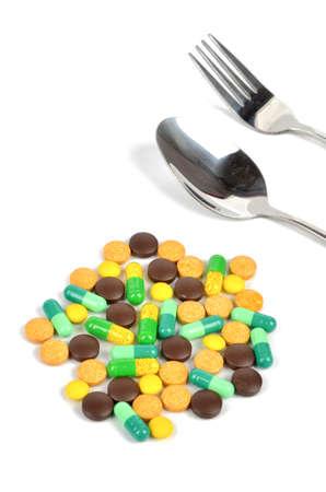 tomar medicina: Tome los medicamentos