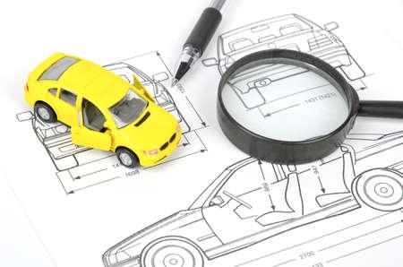 Car blueprint photo