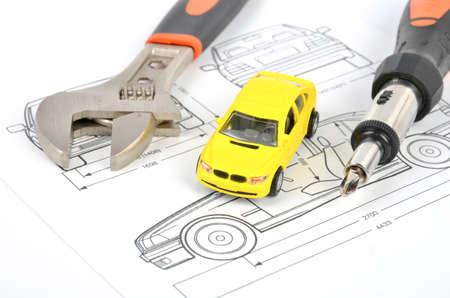 adjustment: Car blueprint