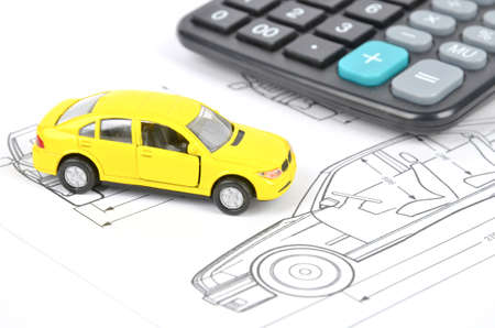 Car blueprint Stock Photo - 12126190