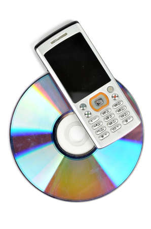 DVD and mobile phone Stock Photo - 12126488