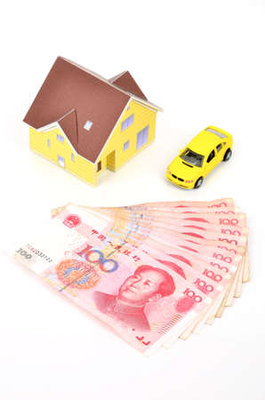 violet residential: Family financial Stock Photo