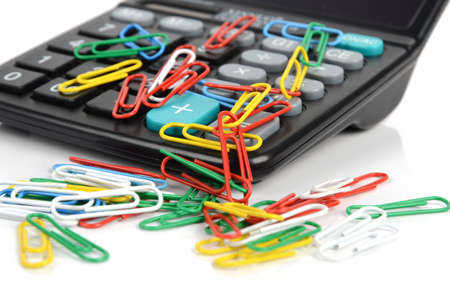 Calculator and paper clips Stock Photo - 12172358