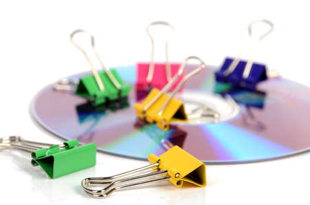Paper clips and DVD Stock Photo - 12170786