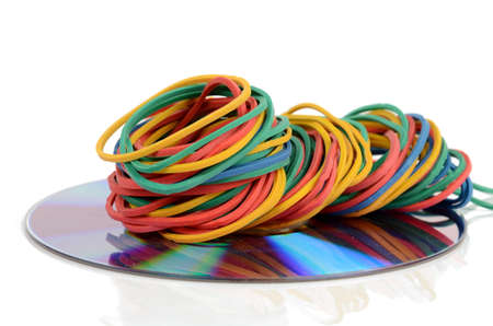 writable: Rubber bands and DVD