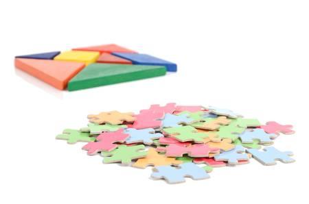 jigsaw tangram: Chinese tangram and puzzle