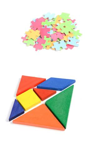 jigsaw tangram: Chinese tangram and puzzle