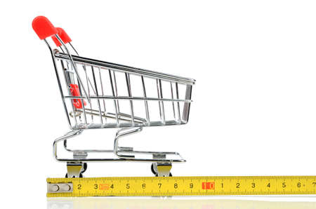 Shopping cart and tape line photo