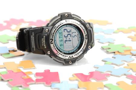 Puzzle and digital watch