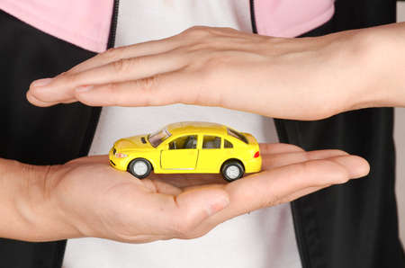 Toy car in hand photo