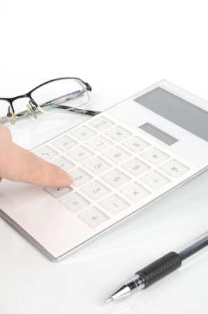teclado numerico: Calculadora y bolígrafo con gafas