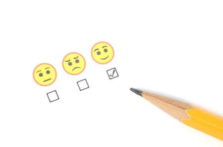 gladness: Pencil and emoticon