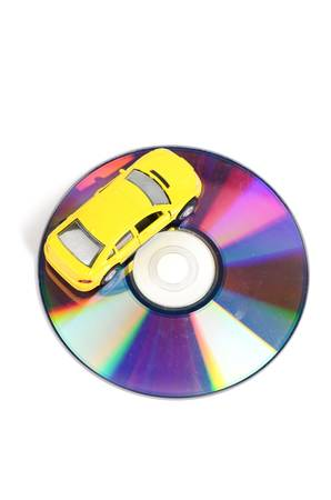 DVD and toy car photo