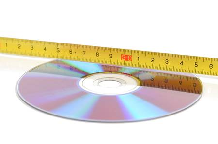DVD and steel tape photo