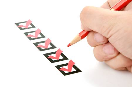 grading: Evaluation Stock Photo