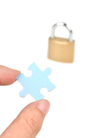 Puzzle and padlock photo