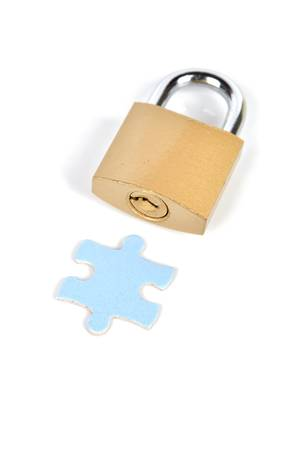 Puzzle and padlock Stock Photo - 12224469