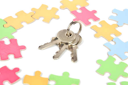 Puzzle and key photo