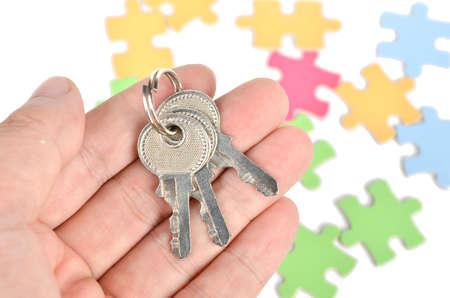 Puzzle and key Stock Photo - 12224285