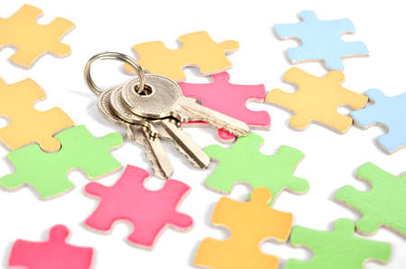 Puzzle and key Stock Photo - 12224366