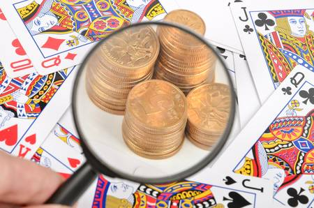 Poker and coins Stock Photo - 12224051