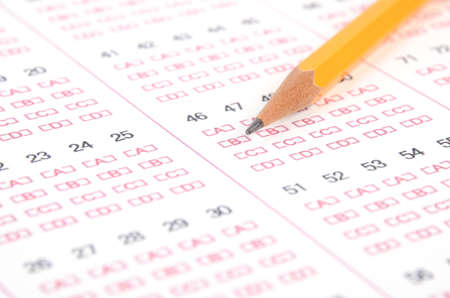 exam results: Test and pencil