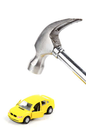 Hammer and toy car Stock Photo - 12253248