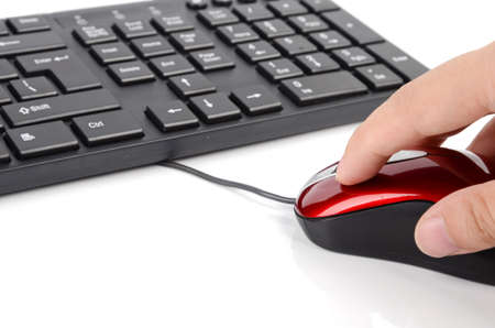 Computer mouse and keyboard photo