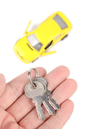 Toy car and keys photo