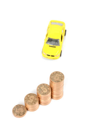 Toy car and coins Stock Photo - 12289034