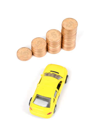 Toy car and coins Stock Photo - 12289073