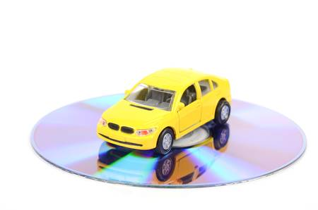 Toy car and DVD photo